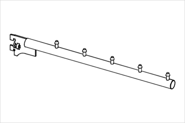 Кронштейн прямой на стойку