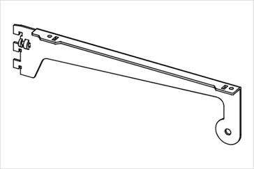 Полкодержатель с концевым держателем трубы диаметром 25 мм