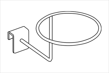 Кронштейн на прямоугольную трубу.