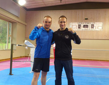 Bernhard Pulfer (Co-Trainer BOXING TEAM ITTIGEN), S. Cottalorda (3* AIBA Coach France National Boxing Team) 08.10.2016
