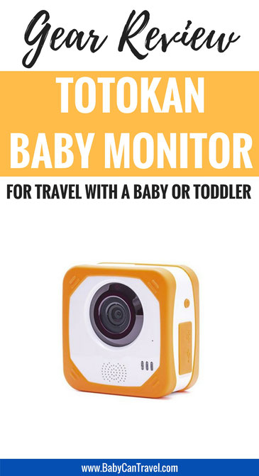 Totokan baby monitor for travel with a baby or toddler