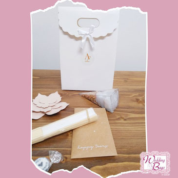 Kit Wedding Bags Gold & Kraft