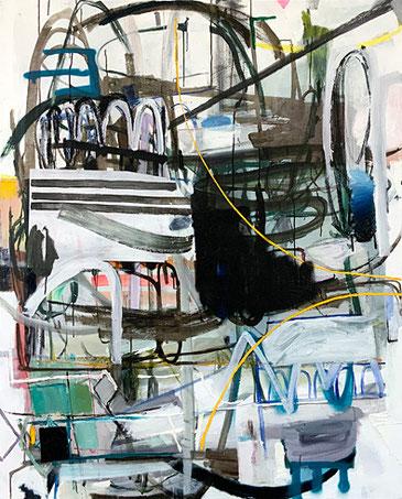Martin-Mohr-Quelltext#1-2020-Acryl-Lack-und-Öl-auf-Baumwolle-150x120-cm