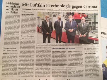 Presseartikel Nordwest Zeitung 27.08.2020