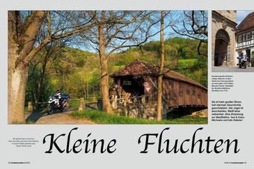 Über den Fluss: Romantische Archenbrücke in Unterregenbach