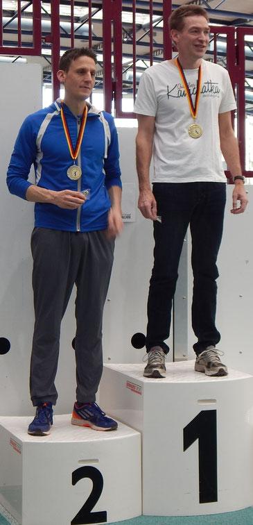 Andreas Reuschenbach (links) übertraf mit Rang 2 im Mittelgewicht der MS 2 und persönlicher Bestleistung alle Erwartungen!!