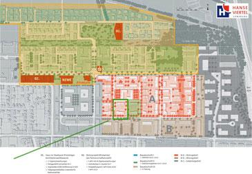 Lage des Grundstücks im Hanseviertel III