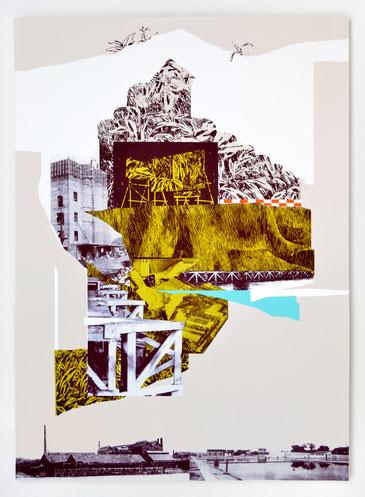 """""""REPAIRE 04"""" / Sérigraphie 70x100cm / collaboration avec Macula Nigra"""