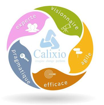 Caractéristiques de notre approche : visionnaire, agile, efficace, pragmatique et experte