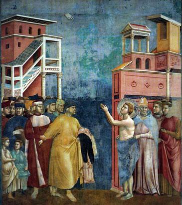 Fresco de Giotto di Bondone (1267 – 1337), que se encuentra en la Basílica de San Francisco, en Asís (Italia)