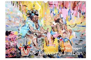 Titelbild des Kalenders 'Bewegte Farben'