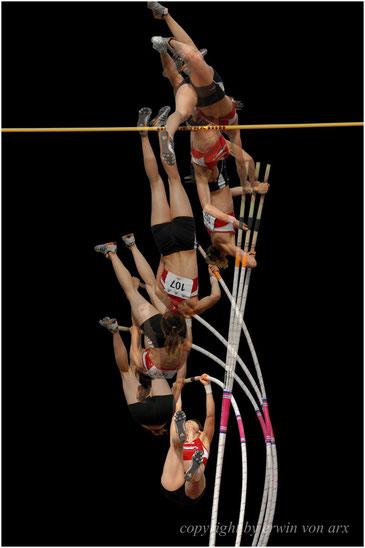 """""""Pole vault"""" Stabhochsprung, Nadine Rohr, SM 2008 in Fribourg"""