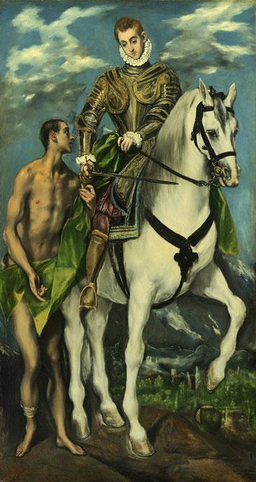 Святой Мартин и нищий - самые известные картины Эль Греко