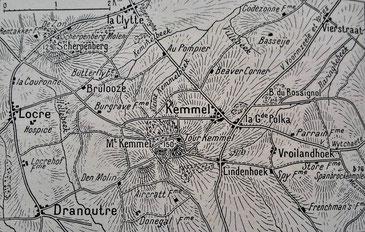 Locre et le mont Kemmel - ''L'Illustration'' - 8 juin 1918