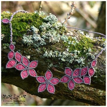 kp kitsch-paradise artisans créateurs création tissage fleur printemps macramé micromacramé couleur nature art fleur en fleur