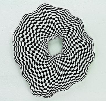 Jean-Claude Houlmann, Lack auf MDF, Durchmesser 100cm