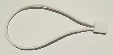 Marchamos Textiles 184mm WAX Encerados color Blanco
