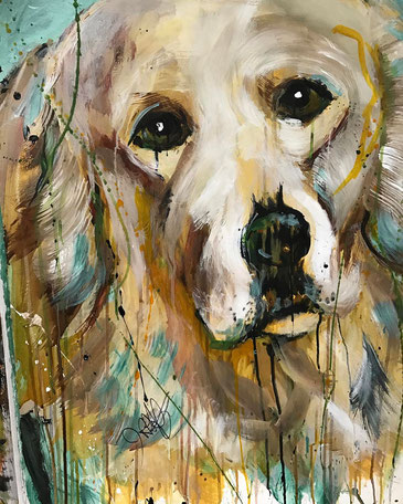 ITEM #22: CUSTOM PET PORTRAIT BY JULIE ARNOFF (VALUE $600)
