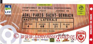 Ticket  Nancy-PSG  2016-17