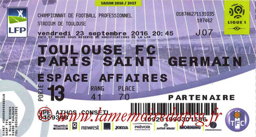 Ticket  Toulouse-PSG  2016-17