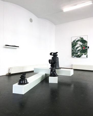 Judith Adelmann stöpsel, installation view at Vent Gallery Vienna 2018