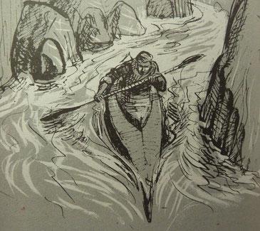 Kayak, in RITTLINGER  L'Amazone en kayak, éd. André Bonne, 1957