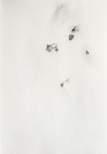 o.T., 2021, Tusche, Bleistift auf Papier, 29.7x 21 cm