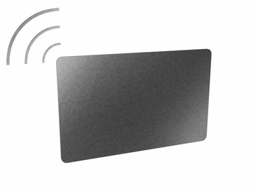 Coded contactless RFID chip cards (transponder cards) individually printed