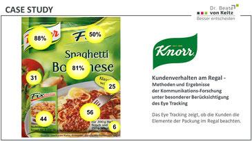 Knorr Packungstest und POS-Forschung