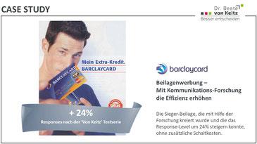 barclaycard Werbetest