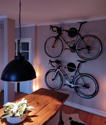 Wandhalter Wandmontage Halterung Fahrrad Rennrad Holz Bike wall mount Karbon Carbon
