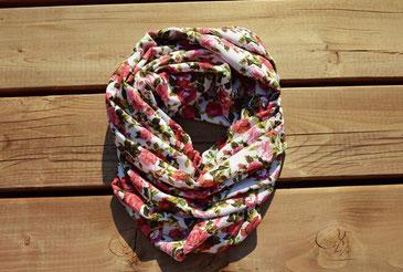 Foulard, foulard infini, fleur, griffe my