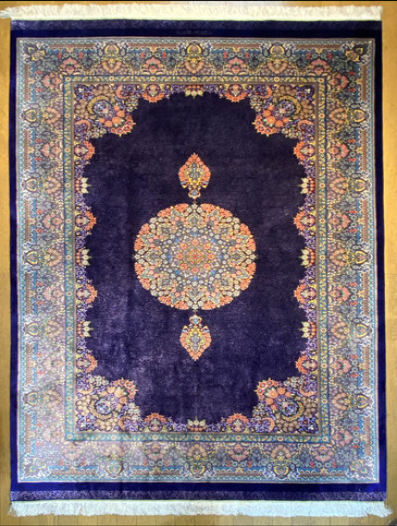 QUM silk  ドザールサイズ 約200x130 KAFFASH ZADEH 工房
