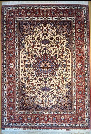 ESFAHAN wool&silk  OLD  SADEGH SEIRAFIAN 218x153 ドザールサイズ