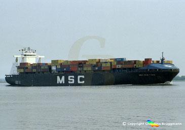 Open-Top Containerschiff MSC NEW YORK