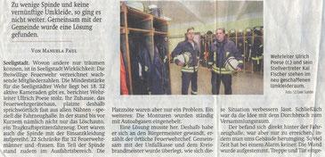 Bild: Seeligstadt Chronik 2020 Feuerwehr