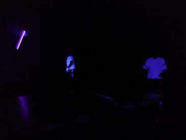 Die Schwarzlicht-Spieler in Aktion
