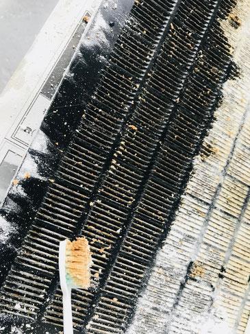 隠岐の島 京見屋分店ブログ レンジフード掃除 重曹 ぬらさない