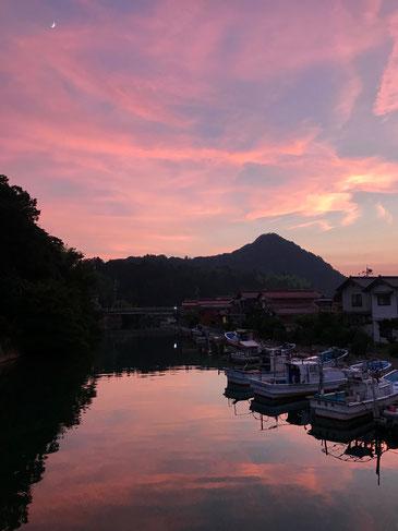 隠岐の島 京見屋分店ブログ 八尾川の夕景