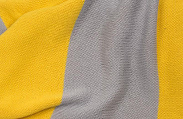 Wendeschal Grau/Gelb nah