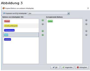 abasoft EVA Praxissoftware Arztsoftware Praxis Arzt Buttons