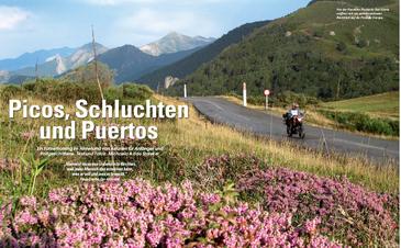 Von der Passhöhe Puerto de San Glorio eröffnet sich ein atemberaubender Rückblick auf die Picos de Europa.