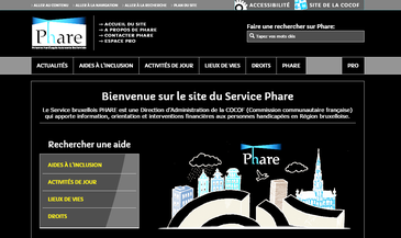 Aperçu du site Phare en contraste inversé