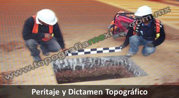 Peritajes y dictamenes topográficos