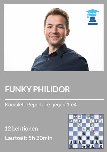 Schach Eröffnungskurs mit Schwarz gegen 1.e4, Philidor