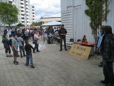 Die St. Michaelsgemeinde beim Stadtteilfest
