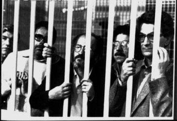 Fængslede autonome (yderst til højre: Toni Negri)
