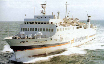 Penn Ar Bed, the first purpose-built RoPax ferry owned by Brittany Ferries.