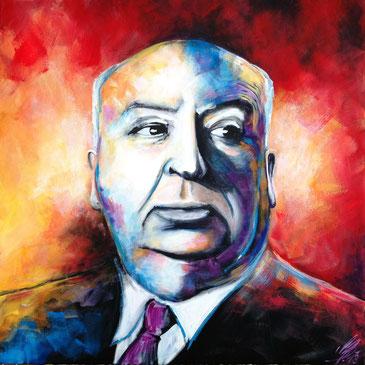 """Well done, Sir Hitchcock!"", 2013, acrylic on canvas, 80x80"