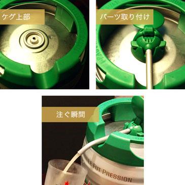 ハイネケン 生ビール 5L 生樽 冷蔵庫 ビールサーバー 自宅 樽から直接 5リットル 5000ml 簡単 バーベキュー アウトドア そのまま